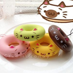 Squishy Bunny Instagram : nekodo cat squishy donut kawaii cute buy online shop store ??My wish list?? Pinterest ...