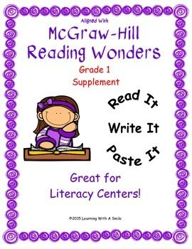 Aligns with Grade 1 Reading Wonders-  Cut and Paste Supplement: Read It! Write…