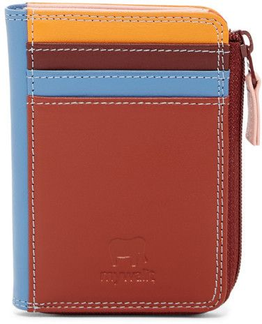 Mywalit Leather Zip Card & ID Holder