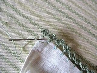 orilla de zigzag crochet