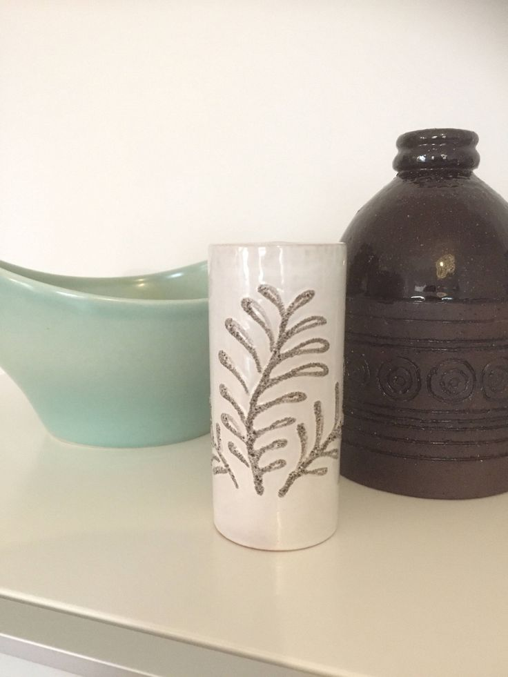 Vintage/strehla/white/vase/1960s by WifinpoofVintage on Etsy