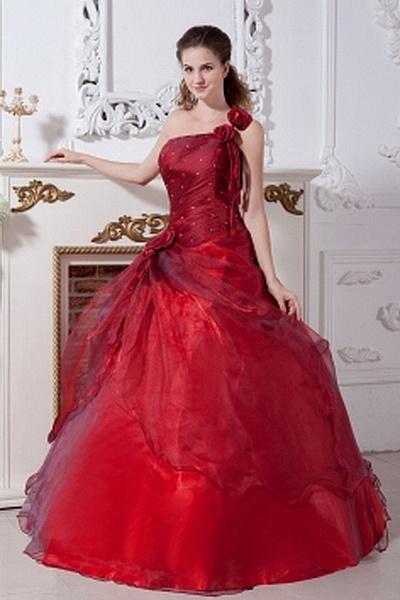 Robe De Tulle Boule Rouge Robes De Soirée rdc1423 - Silhouette: Robe De Bal; Tissu: Tulle, Embellissements: Perles, Fleurs, Ruchés, Paillettes, Longueur: Longueur Au Sol - Price: 167.9 - Link: http://www.robesdeceremonies.com/robe-de-tulle-boule-rouge-rob
