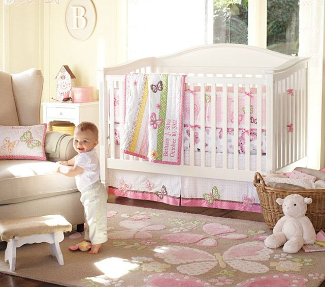Butterfly themed nursery for girl for Butterfly themed bedroom ideas