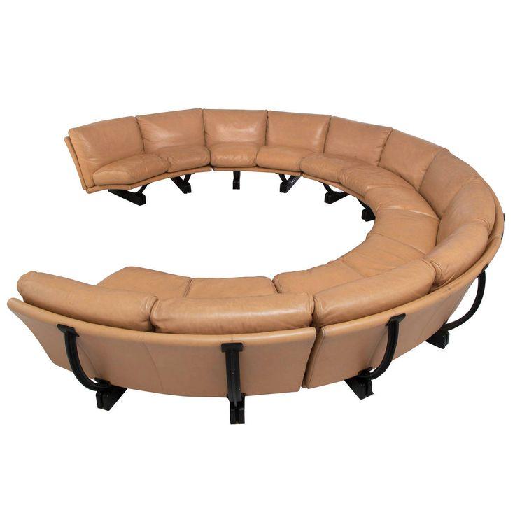Extreme Large Curved Sectional Sofa by Poltrona Frau | 1stdibs.com