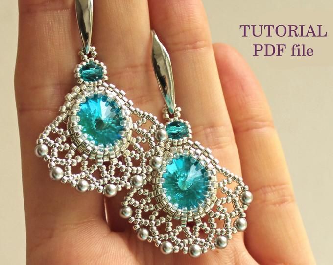 adjustable beaded neck chain links to free video tutorials Neptune Bead Weaving Necklace instant download pattern