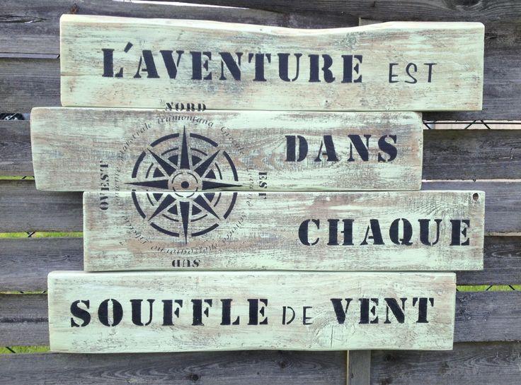Les 25 meilleures id es concernant panneaux en bois sur for Pancarte publicitaire exterieur
