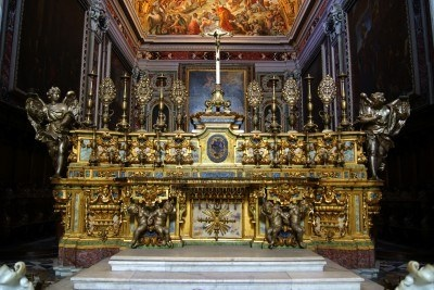 The altar of the Catholic Church in Naples Stock Photo  Gorgeous