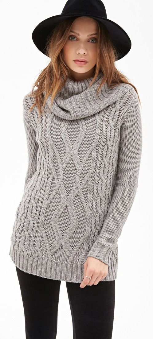 Forever 21 - Turtleneck Cable Knit Sweater