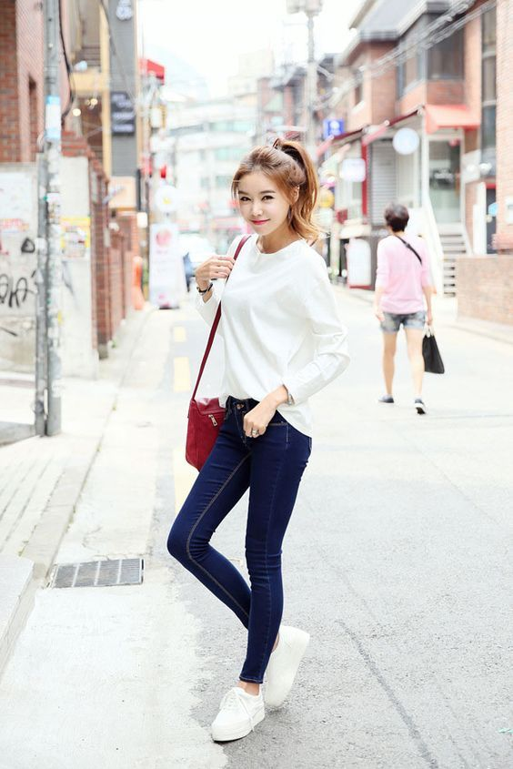 Denim Outfit Korean Style