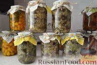 """Фото приготовления рецепта: Баклажаны """"как грибы"""" (с чесноком) на зиму - шаг №7"""