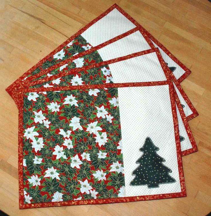 Výsledek obrázku pro patchwork vánoční prostírání