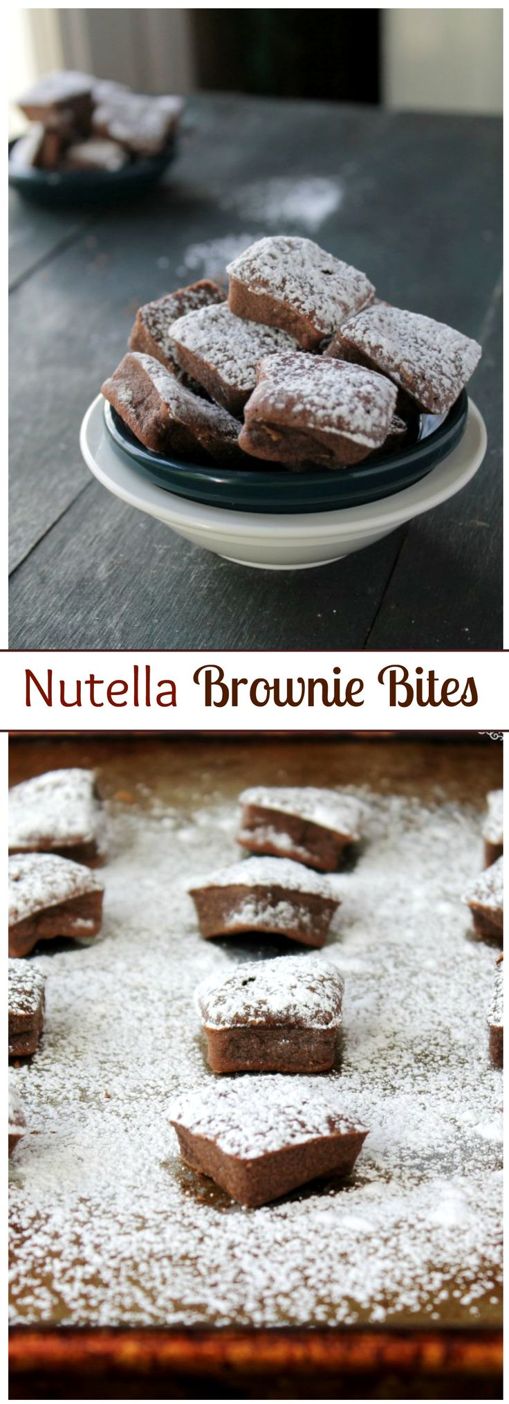 Nutella Brownie Bites - Bite-size Brownies made with Nutella!