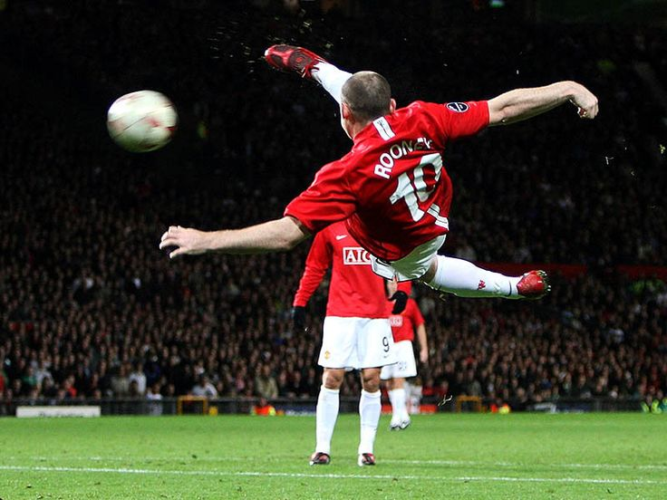 Wayne Rooney's EPIC Bicycle goal!!! Even though it went off his shin. ha.