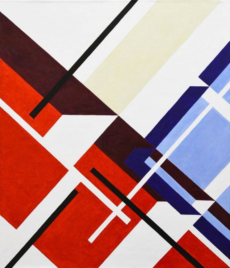 Buy Diagonals, a Acrylic on Canvas by Radek Smach from Czech Republic. It portrays: Abstract, relevant to: red, blue, white, geometric abstraction, diagonals, abstract, minimalism Geometric abstraction  Original abstract painting on canvas.  Ready to hang. No framing required (it can be framed).  Signed on the back
