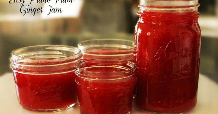 Sandra's Alaska Recipes: SANDRA'S EASY PRUNE PLUM GINGER JAM [Click image for recipe...]