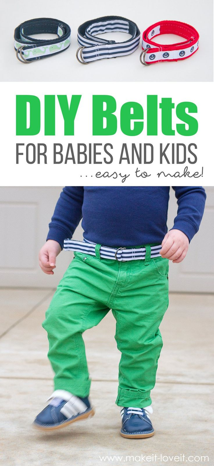 How To Make Belts for Babies & Kids...the EASY way! | via Make It and Love It