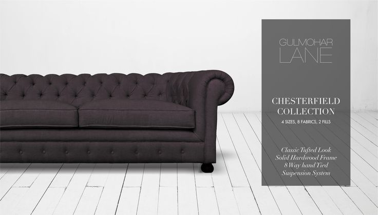 The Chesterfield conjures visions of English libraries or men's clubs, with its tufted back, high rolled arms, and tufted facade. Our take on this classic brings in enormous charm to your living room with this beautifully handcrafted masterpiece by one of our 4th Generation sofa artisans. To shop, visit our website: http://www.gulmoharlane.com/products/chesterfield-collection