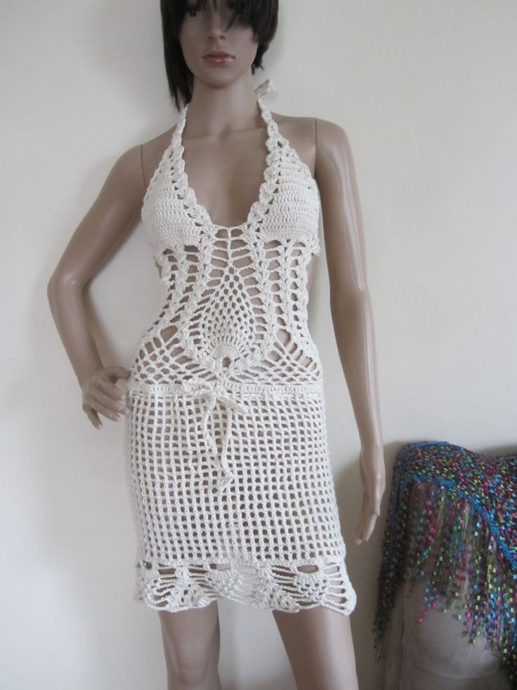 CROCHET DRESS, Crochet monokini dress, crochet dress,monokini halter, bohemian, beach cover up, gypsy clothing, hippie, summer dress