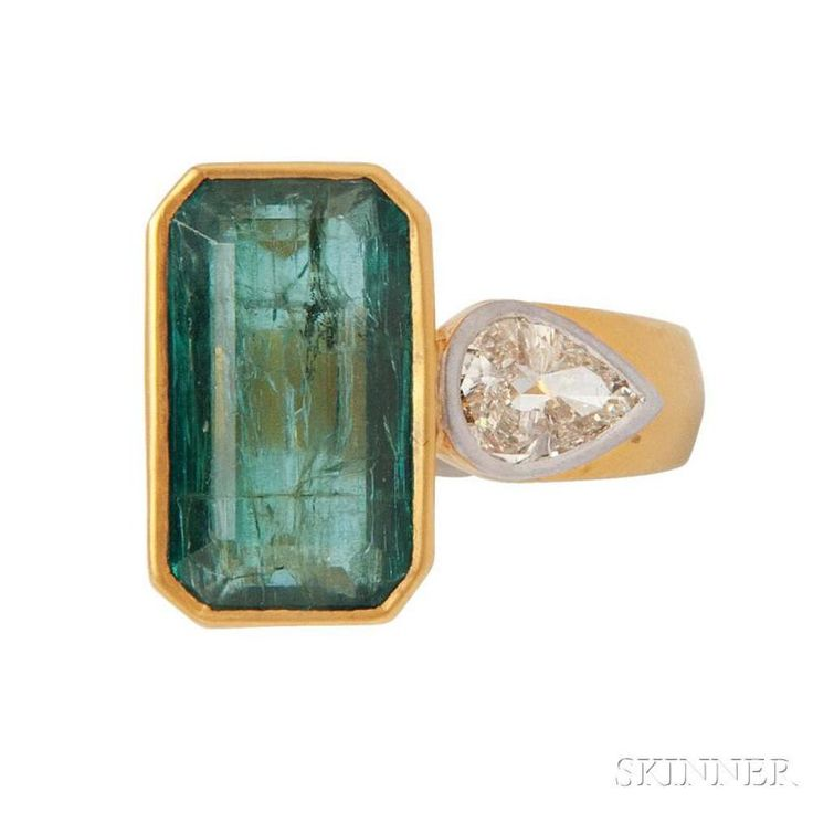 18kt Gold, Emerald, and Diamond Ring - Price Estimate: $3000 - $5000