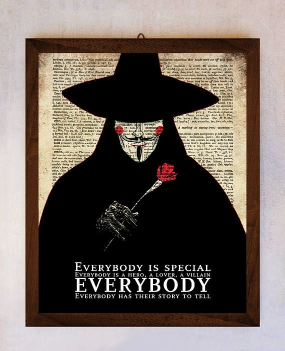 V for Vendetta poster V for Vendetta wall art Dictionary