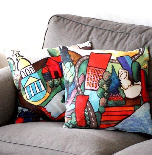 Colourful pillowcases
