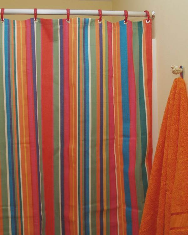 Captivating Striped Shower Curtain Multicolor