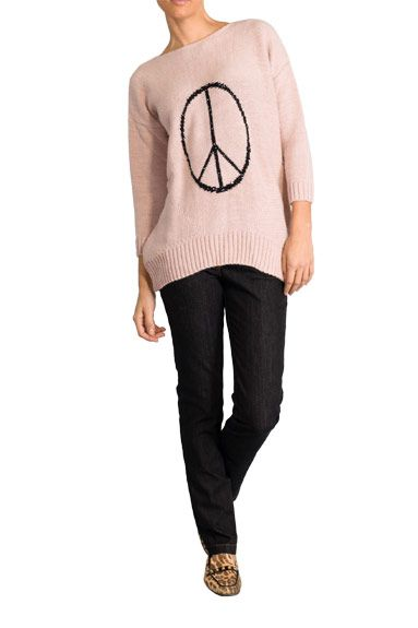 Medium knit pale pink jumper by The Extreme Collection