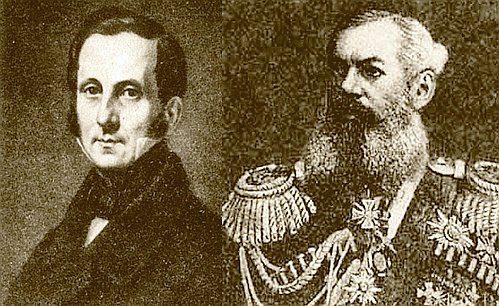 Граф Уваров (слева) и князь М. Дондуков-Корсаков - тайные любовники и гонители Пушкина.