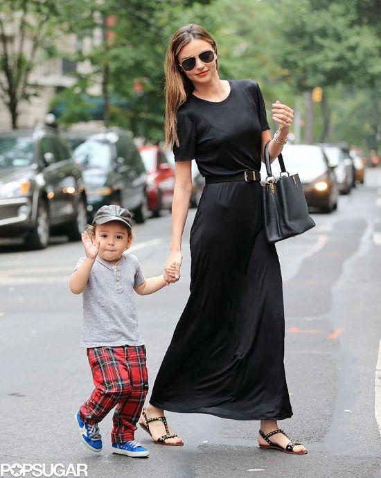 Miranda Kerr With Flynn Bloom Waving in NYC (Awwwww).