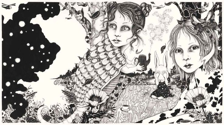 The wonderful drawings of Julie Nord  is a big inspiration in my work.