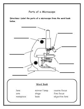 label the microscope worksheet free worksheets library download and print worksheets free on. Black Bedroom Furniture Sets. Home Design Ideas