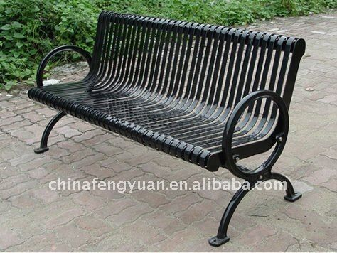 metal park bench steel ends galvanized steel hot dipped zinc primer