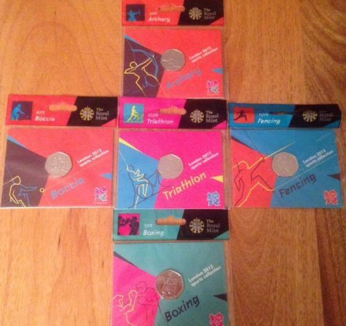 5 x 2015 olympic bunc 50p coins #sealed triathlon  #fencing #boxing boccia archer,  View more on the LINK: http://www.zeppy.io/product/gb/2/122113896010/