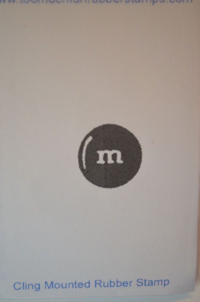 M&M Candy Plain Sells for 4.95. Too Much Fun Rubber Stamps Other items in examples sold separately Pat's Rubber Stamps & Scrapbooks. Call me 423-357-4334 or email me patbubstilwell@gm... with orders Free shipping with 35.00 or more on phone call order or email orders. We can send an invoice through pay pal and we don't need your account Number