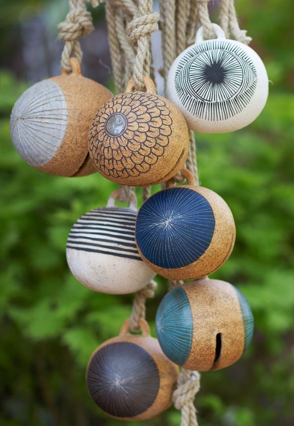 Garden Ornaments ? DIY With Stripped Tennis Balls?