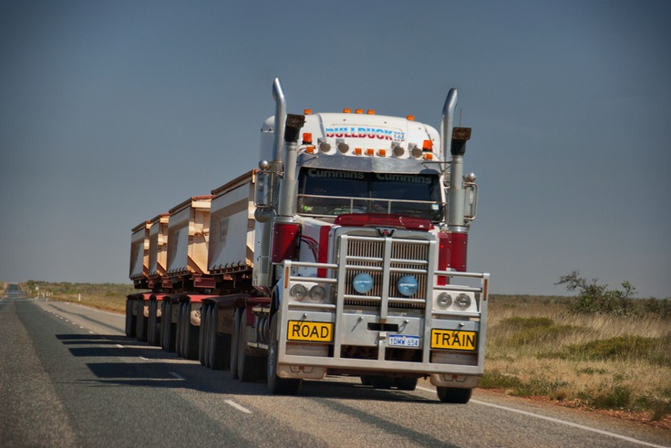 One of the road trains while travelling