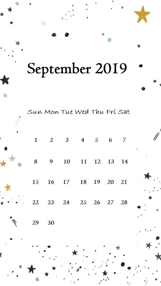 September 2019 Iphone Calendar Wallpaper September Wallpaper
