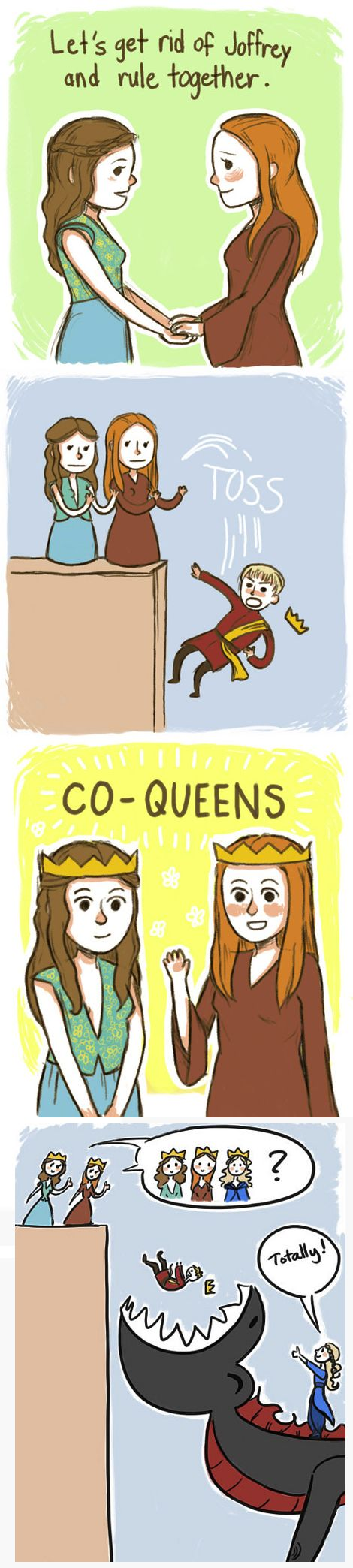 Sansa, Margaery, and Khaleesi - Girl Power----hells yeah i'd watch this. i don't even like girls and this is my favourite au for the iron throne hahah
