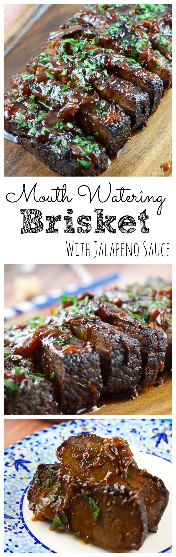 Jalapeño Brisket Recipe - This melt in your mouth Brisket is sweet with just a hint of heat. The beef just melts in your mouth #SeasonedGreetings #CollectiveBias #Ad