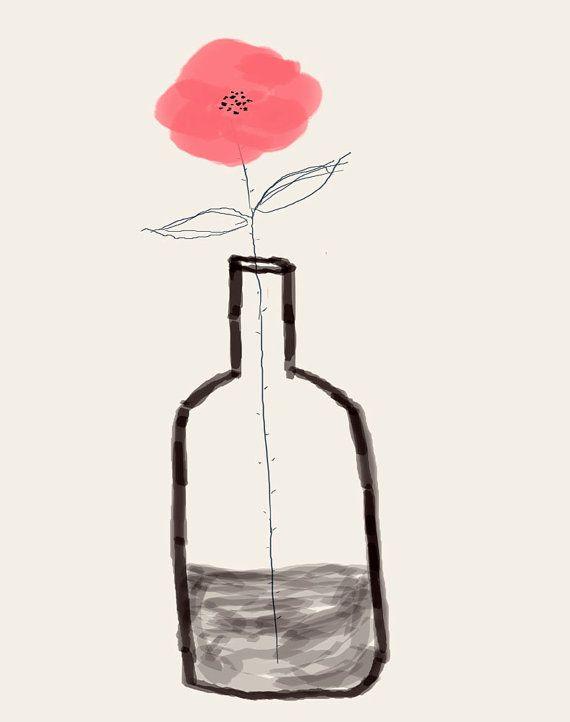 "Sending You Flowers Pink 7.5"" x 9.5"""
