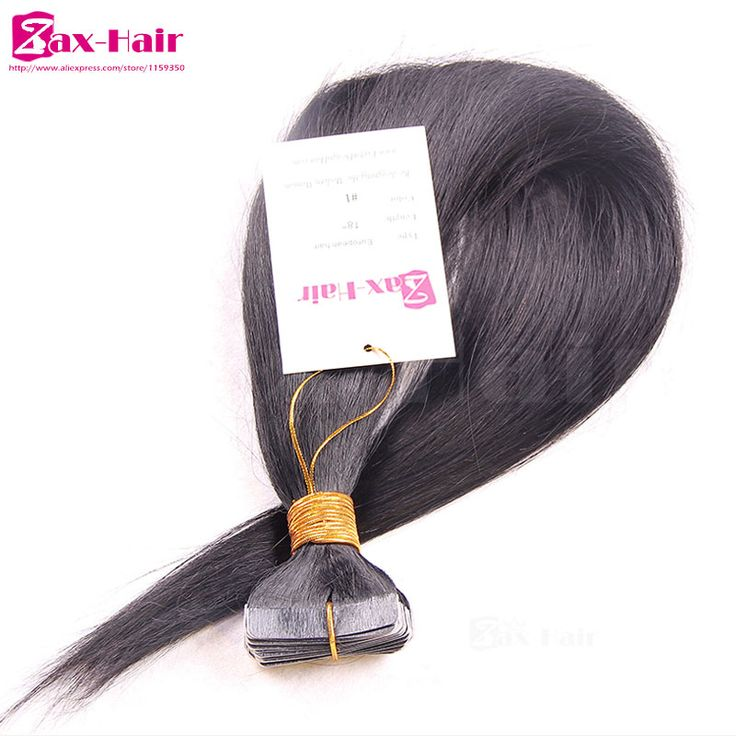 Indian remy tape hair extensions Straight tape hair extensions virgin human hair skin weft customized grade 6A top quality sale