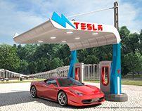 3D Canopy Design For Tesla Charging Station