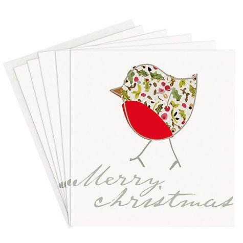 Buy Caroline Gardner Printed Robin Charity Christmas Cards, Pack of 5 Online at johnlewis.com