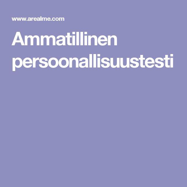 Ammatillinen persoonallisuustesti