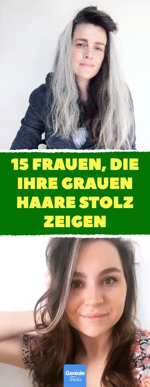 15 Frauen, die ihre grauen Haare stolz zeigen. 15 Frauen