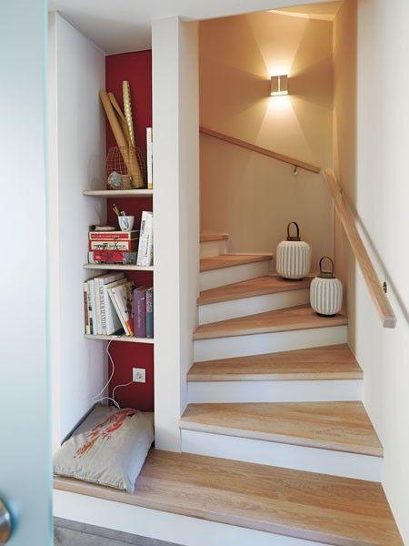 Ber ideen zu stauraum unter der treppe auf for Wandfarbe auf holz