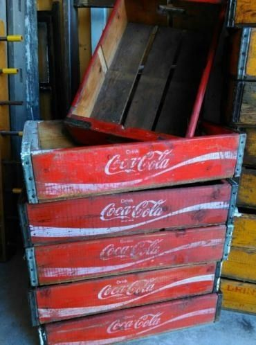 Oude Vintage Coca Cola Kistje Frisdrank Krat Rood