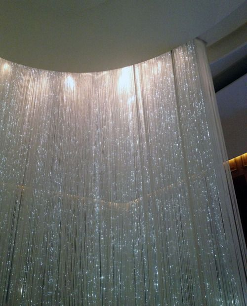 String LED screen at Alain Ducasse in London. It's like being surrounded by a waterfall.
