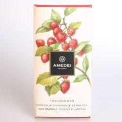 Amedei Tuscany - Tavoletta Toscano red 70% - Sommerschokolade mit roten Früchten - chocolate