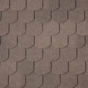Dual Brown Superglass Biber asphalt shingles, IKO roofing shingles